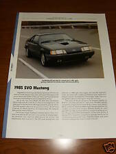 ★★1985 MUSTANG SVO SPECS INFO PHOTO 84 85 86 FORD TURBO★★