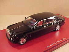TrueScale 1/43 Resin '10 Rolls-Royce Phantom LWB Black / Red Interior #TSM124367