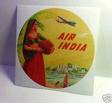 Air India Vintage Style Travel Decal / Vinyl Sticker, Luggage Label