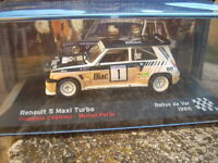 DIE CAST RENAULT 5 MAXI TURBO CHATRIOT-PERIN RALLYE DE VAR 1986 SCALA 1/43