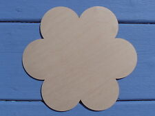 20cm Wooden Flower Craft Shape Blank Door Wall Plaque Sign Pack of 3