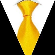 Men's Yellow Solid Silk Formal Neck Tie Wedding Groom Party Handmade Necktie S07