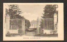 PITHIVIERS (45) CHATEAU de JOINVILLE , GRILLE en fer forgé , avant 1904