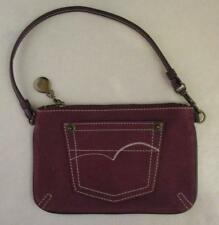 American Eagle Outfitters Jean Pocket Leather Wristlet Wallet Coin Purse Handbag