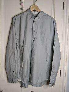 Marc by Marc Jacobs mens grey shirt Size M Shrunken fit Dove Grey 100% cotton