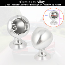 2xAluminum Alloy Separable Housing Base Car Tweeter Cup Mount Silver Tone Style