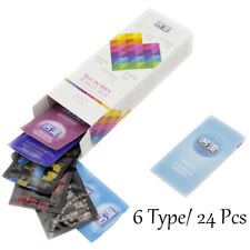 24Pcs-6-Function Long Lasting Delay-Condom bbed Dotted Adult Latex Condoms