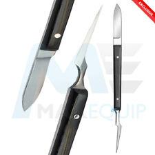 """CERA per l'odontoiatria Coltello Carver ermert laboratorio 5"""" coltelli da taglio CERETTA LAMA ACCIAIO"""