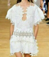 $5,395 Chloe Peacock Embroidered 2015 Runway Iconic Milk Dress  US 2 4 / FR 34