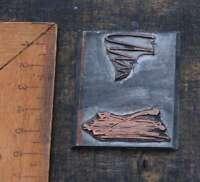 Galvano Druckplatte Klischee Eichenberg printing plate copper printer imprimerie