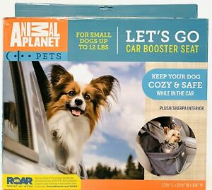 ANIMAL PLANET Pets Let's Go Car Booster Seat (small dogs up to 12 Lbs)  OPEN BOX