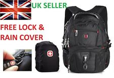 "Swiss Gear 17"" Laptop Backpack / Rucksack Bag Backpack SA8112, Lock & Rain Cover"