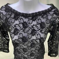 Eldar Womens Lace Top Blouse T-shirt Long Sleeve Lalla Lace (S) Made in Poland