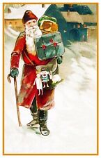 Victorian  Father Christmas Santa Claus # 709 Counted Cross Stitch Pattern