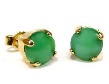 SoHo® Ohrstecker original 1960er Jahre handgemachter Glasstein Katzenauge grün