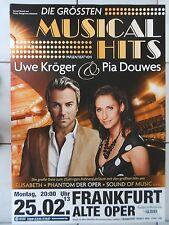 KRÖGER-DOUWES MUSICAL HITS 2013  ORIGINAL CONCERT-KONZERT-POSTER  84 x 60 cm