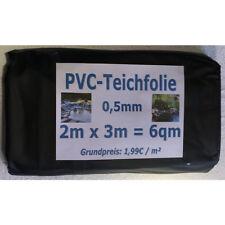 PVC Teichfolie 0 5mm schwarz In 3m X 2m