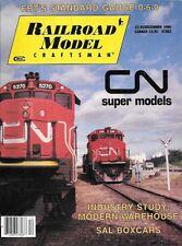 Railroad Model Craftsman Dec.1990 CN Canadian Northern Athearn SD40-2 Watertank