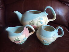 Vintage Original Hull Pottery Bow Knot Tea Set with Sugar and Creamer.