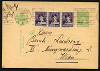 ROMANIA to AUSTRIA Postal Stationery + Stamps 1930 - V/Nice