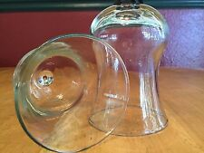 """Set Of Homco Votive Cups Clear Traditions Design 5 1/4"""""""