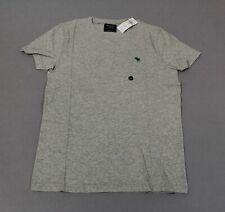 Abercrombie & Fitch Men's Short-Sleeve Icon Tee CD4 Gray Small NWT