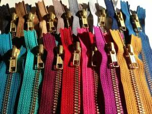 YKK NO.5, 91cm Open Ended Zip, GOLD Metal Teeth, Choose From 12 Tape Colours!