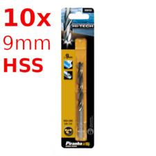 10x HSS 9mm Bohrer Piranha / Black&Decker Metall Stahl Holz Set 10-Stück CNC