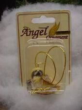 PEKINGESE dog ANGEL Ornament resin HAND PAINTED FIGURINE Christmas COLLECTIBLE