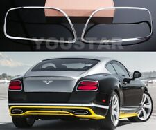 UK Stock X2 Bright Chrome Rear Light Trims for Bentley CONTINENTAL GT GTC Speed