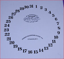 ITHACA CALENDAR CLOCK LOWER DIAL FOR IRON CASE & OTHERS