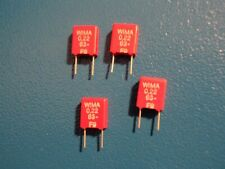 WIMA  MKS2  0.22uf  63v METALISED POLYESTER CAPACITOR     QTY 4 off
