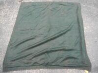 "Vintage Antique Dark Green Horse Hair Hand Sewn Carriage Lap Blanket 53"" x 54"""