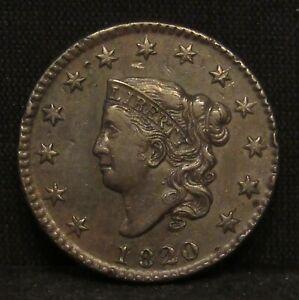 1820 Coronet Head Large Cent XF