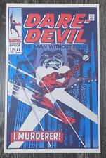 """Foom MarvelMania Poster Daredevil The Man without Fear  12"""" by 19"""" 1970 T"""
