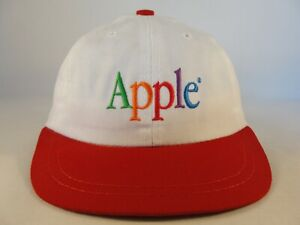 Infant Size Apple Vintage Hat Cap American Needle Ivory Red