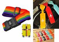 Adjustable Luggage Suitcase Cross Strap Travel Baggage Storage Bag Belt x 1