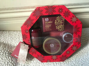 NEW AND SEALED CRANBERRY GIFT SET BY THE BODY SHOP
