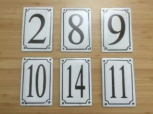 ENAMEL HAND CRAFTED AND HAND PAINTED RETRO HOUSE NUMBER RRP $49.95 / CHEAP