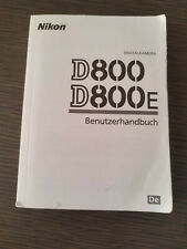 NIKON D800 istruction manual Bedienungsanleitung in Deutsch D800E