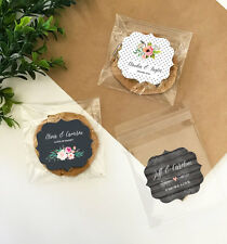 48 Rustic Garden Wedding Clear Cookie Candy Personalized Favor Bags Q47139