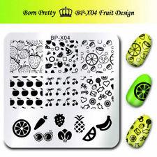 BORN PRETTY  Kunst Nagel Stempel Schablone Nail Art Stamp Fruit Design