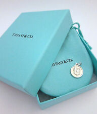 NWT Tiffany & Co Lexicon Blue Box Charm in Sterling Silver Pendant for Necklace