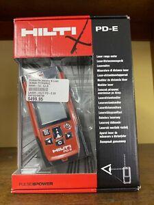 HILTI - PD-E LASER RANGE METER  Distance Finder Measurer in Case