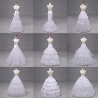 Neu Petticoat Unterrock Kleid Unterkleid Reifrock Ringe Brautkleid Weiß
