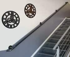 Main courante rampe murale escalier acier Rambarde indus vintage 190 - 490cm