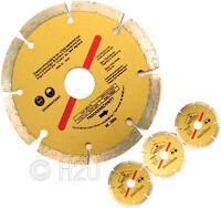 "3 x 115mm 4.5"" Diamond Disc Cutting Saw Blade Angle Grinder Brick Stone Concrete"