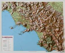 Campania Carta / Mappa Regionale in Rilievo 74x64 cm [senza cornice] Global Map
