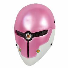 Pink Airsoft  Paintball BB Gun Wire Mesh Protection Sci-fi Robot Mask
