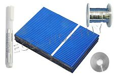 40pcs 52x76mm Poly Solar Cells Kit w/Tab, Bus Wire &Flux Pen for DIY 20W Panel